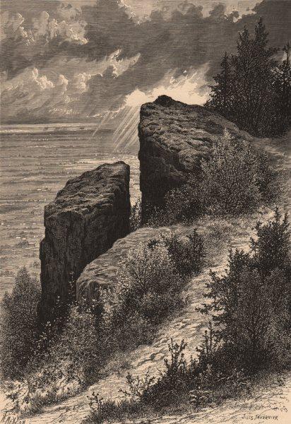 Associate Product NEW JERSEY. Washington Rock 1874 old antique vintage print picture