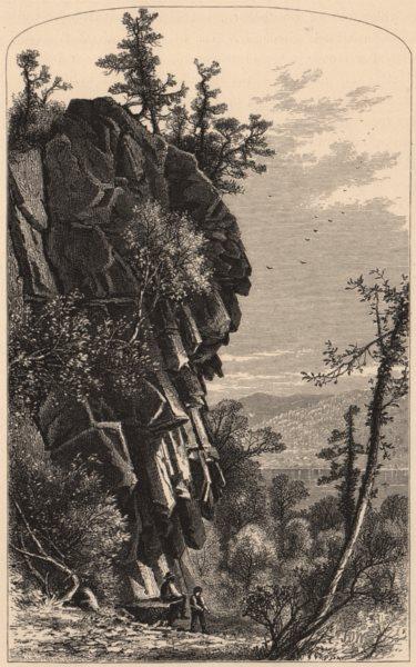 Associate Product MASSACHUSETTS. Titan's Pier, Mount Holyoke 1874 old antique print picture