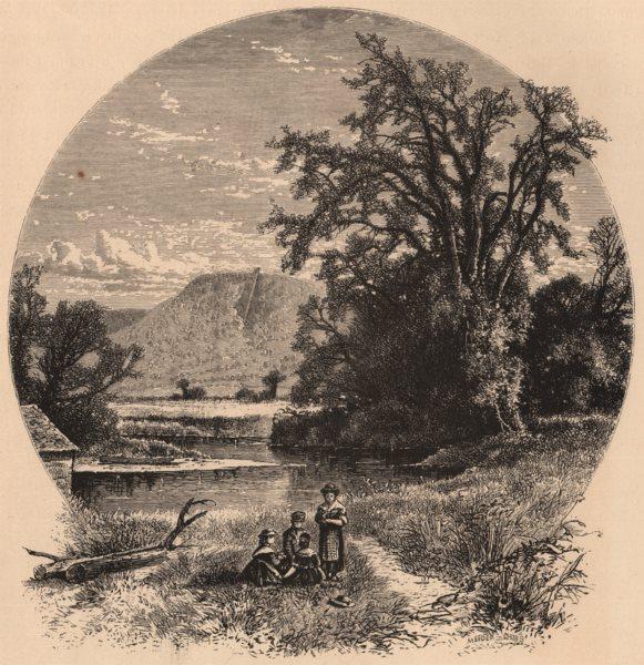 Associate Product MASSACHUSETTS. Northampton Meadows 1874 old antique vintage print picture