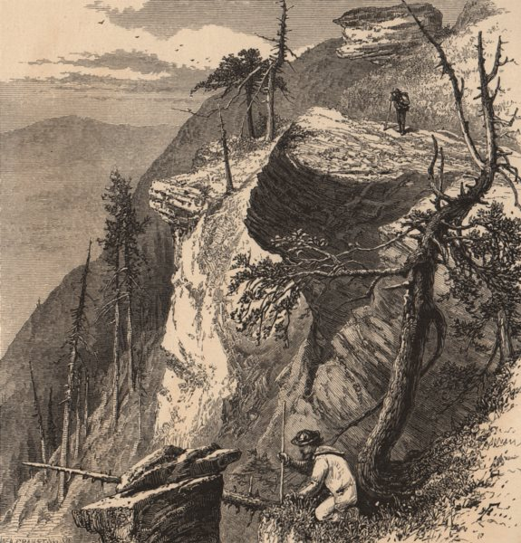 Associate Product NEW YORK STATE. Looking south from South Mountain. Catskills 1874 old print