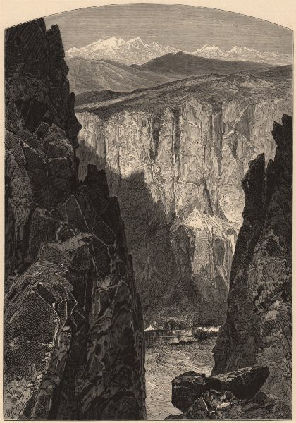 Associate Product NEVADA. Palisade Canyon 1874 old antique vintage print picture
