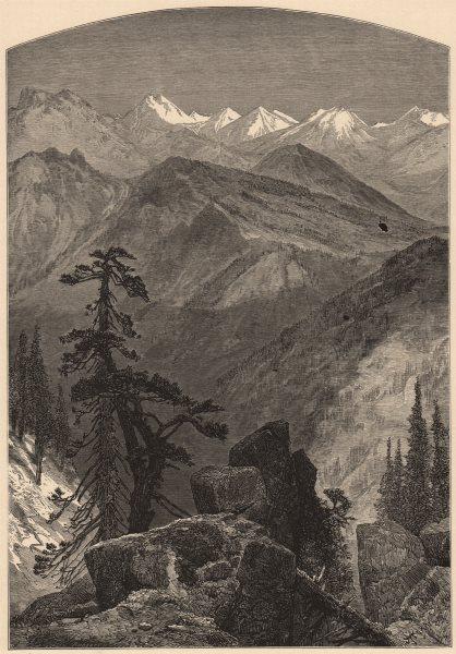 SIERRA NEVADA. Summit of the Sierras. California 1874 old antique print