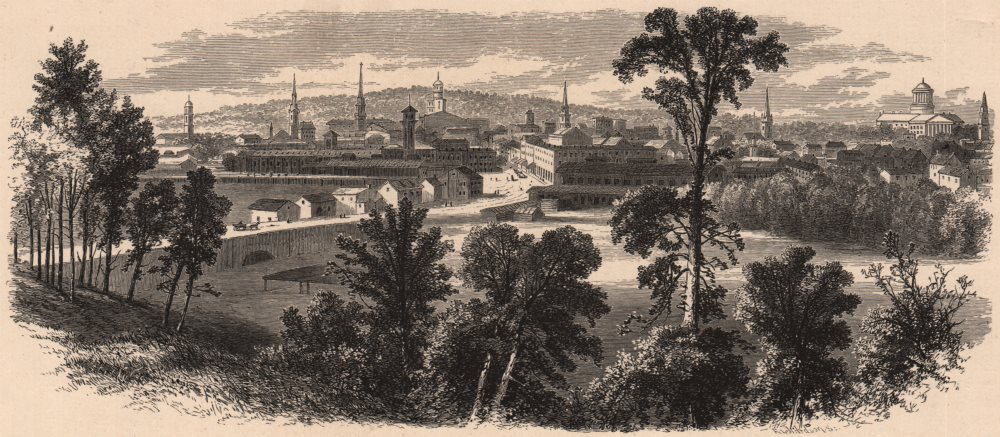 Associate Product HARRISBURG. View from Brant's Hill. Pennsylvania 1874 old antique print