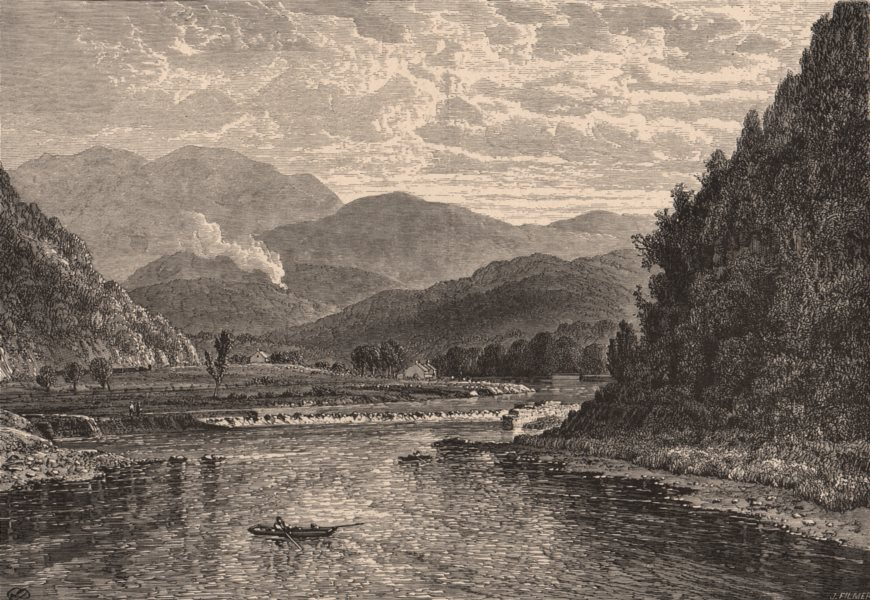 Associate Product PENNSYLVANIA. Nanticoke Dam. Susquehanna 1874 old antique print picture