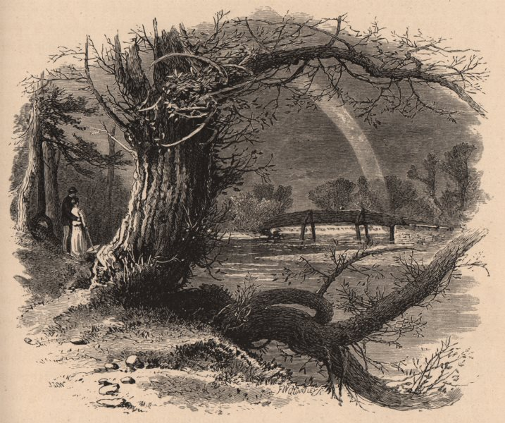 Associate Product MASSACHUSETTS. Green River, at Great Barrington. Rainbow. Housatonic 1874