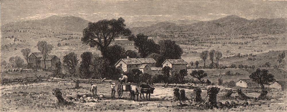 Associate Product MASSACHUSETTS. View from the Ledge, Lenox. Housatonic 1874 old antique print