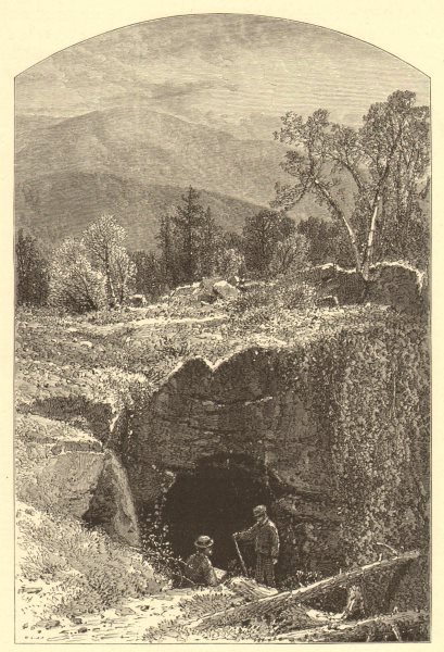 Associate Product MASSACHUSETTS. Natural Bridge, North Adams. Housatonic 1874 old antique print