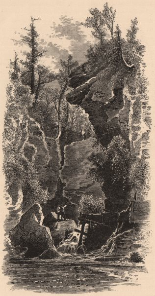 Associate Product MASSACHUSETTS. Profile Rock, North Adams. Housatonic 1874 old antique print