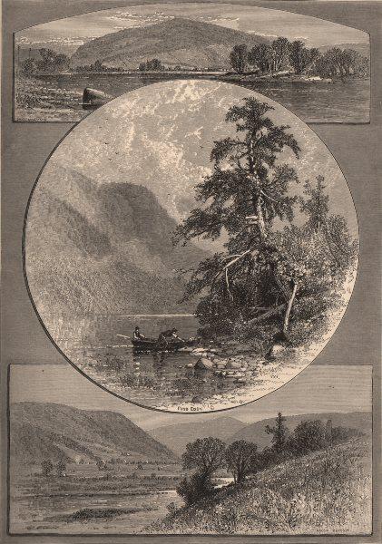 Associate Product UPPER DELAWARE. The upper Delaware 1874 old antique vintage print picture