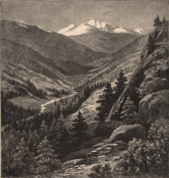 Associate Product COLORADO. Gray's Peak. Rocky Mountains 1874 old antique vintage print picture