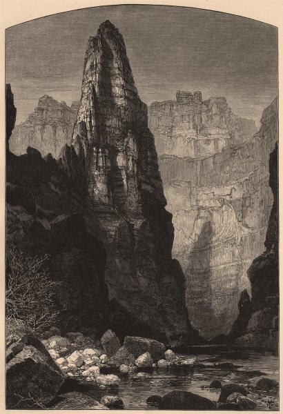 Associate Product UTAH. Kanaba Canyon 1874 old antique vintage print picture
