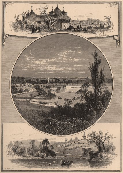 Associate Product NEW YORK CITY. Prospect Park, Brooklyn 1874 old antique vintage print picture