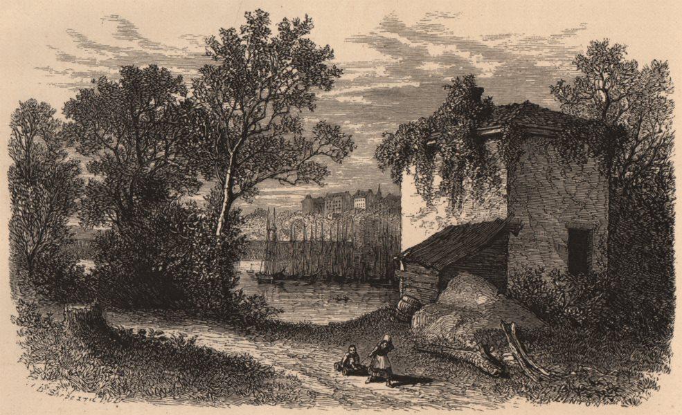 Associate Product WASHINGTON DC. Glimpse of Janjanbureh, from Analostan Island 1874 old print