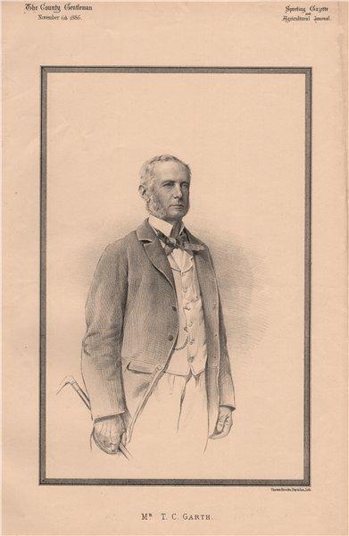 Associate Product Mr. T.C. Garth 1886 old antique vintage print picture
