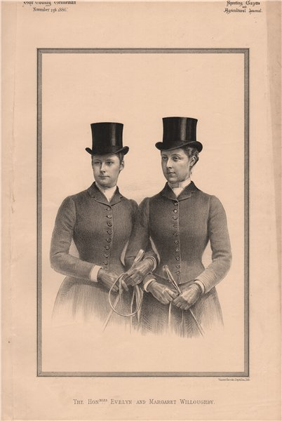 Associate Product The Honourables. Evelyn and Margaret Willoughby 1886 old antique print picture