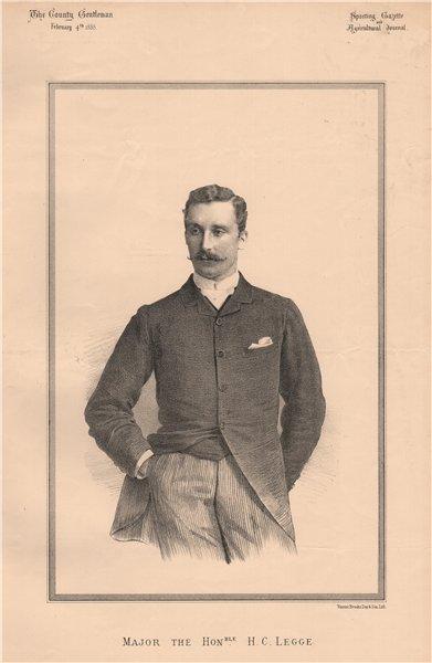 Associate Product Major The Honourable H.C. Legge 1888 old antique vintage print picture