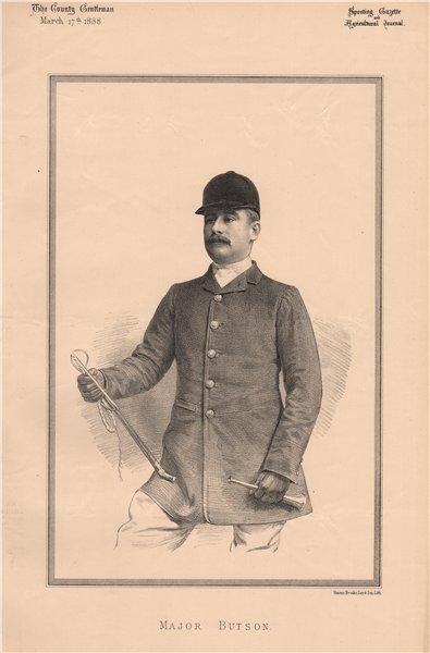 Associate Product Major Butson 1888 old antique vintage print picture