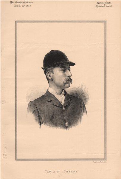 Captain Cheape 1888 old antique vintage print picture