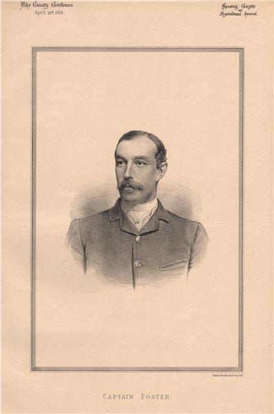 Associate Product Captain Foster 1888 old antique vintage print picture
