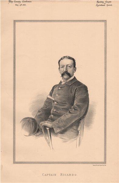 Associate Product Captain Ricardo 1888 old antique vintage print picture