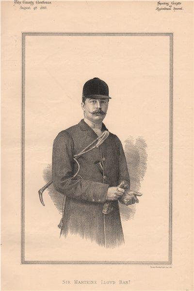 Associate Product Sir Marteine Lloyd Bart. 1888 old antique vintage print picture