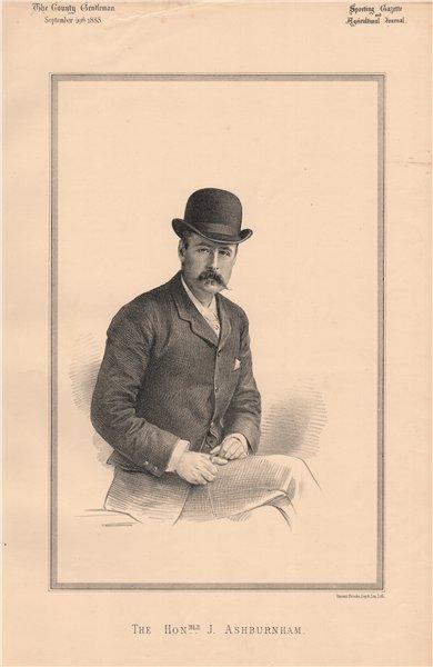 Associate Product The Honourable J. Ashburnham 1888 old antique vintage print picture