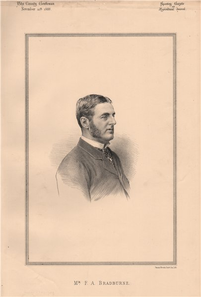 Associate Product Mr. F.A. Bradburne 1888 old antique vintage print picture