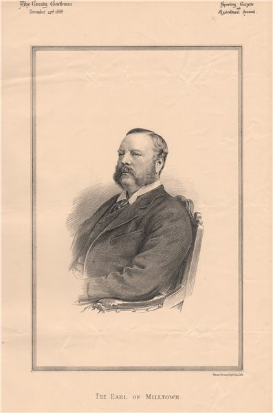 Associate Product The Earl of Milltown 1888 old antique vintage print picture