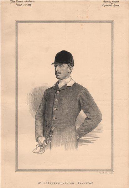 Associate Product Mr. H. Fetherstonhaugh-Farmpton 1889 old antique vintage print picture