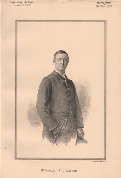 Associate Product Mr. Edward St. L. Walker 1889 old antique vintage print picture
