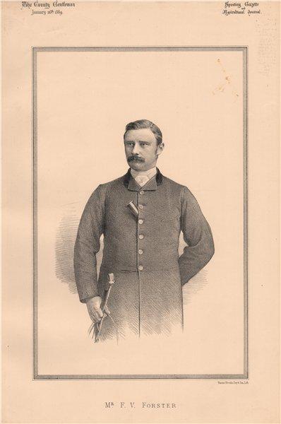 Associate Product Mr. F.V. Forster 1889 old antique vintage print picture