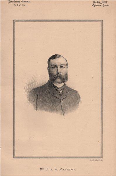 Associate Product Mr. P.A.W. Carnegy 1889 old antique vintage print picture