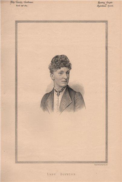 Associate Product Lady Boynton 1889 old antique vintage print picture