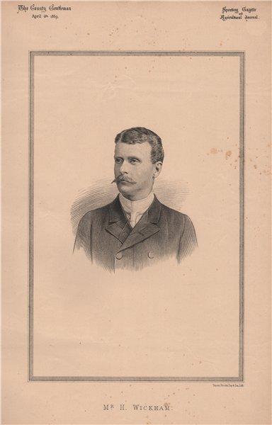 Associate Product Mr. H. Wickham 1889 old antique vintage print picture