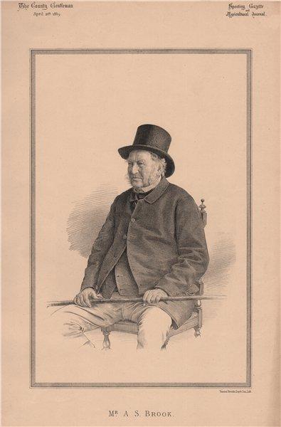 Associate Product Mr. A.S. Brook 1889 old antique vintage print picture
