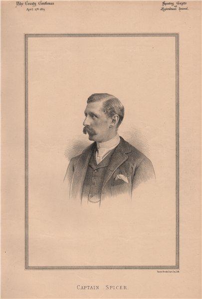 Associate Product Captain Spicer 1889 old antique vintage print picture