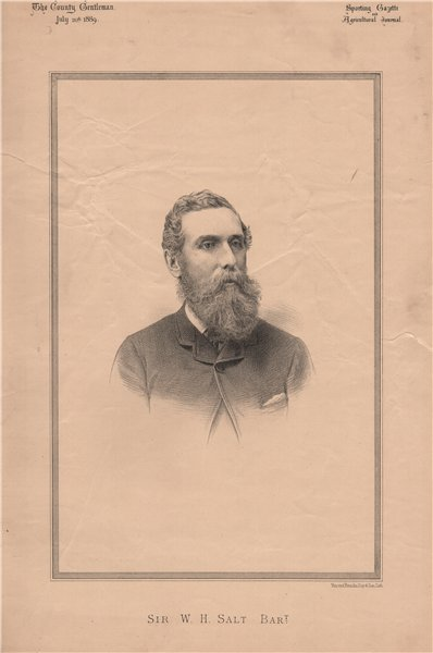 Associate Product Sir W.H. Salt Bart 1889 old antique vintage print picture