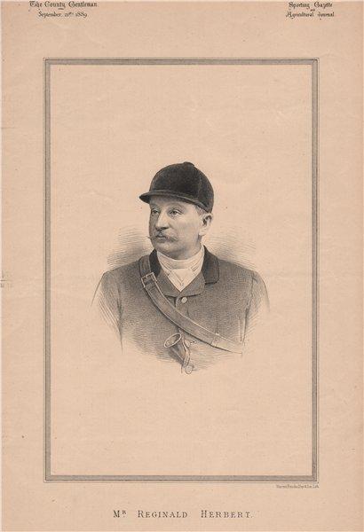 Associate Product Mr. Reginald Herbert 1889 old antique vintage print picture