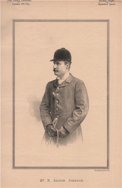 Associate Product Mr. R. Alison Johnson 1889 old antique vintage print picture