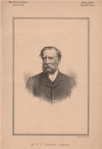 Associate Product Mr. T.T. Townley Parker 1889 old antique vintage print picture