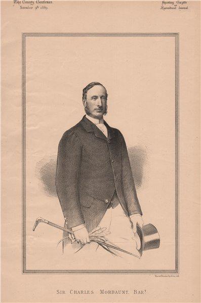 Associate Product Sir Charles Mordaunt Bart 1889 old antique vintage print picture
