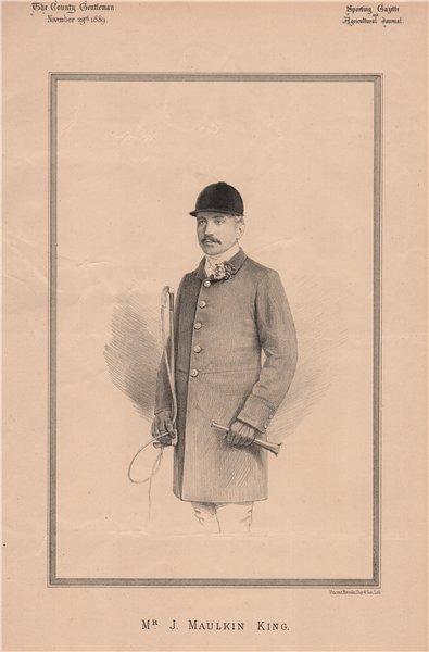 Associate Product Mr. J. Maulkin King 1889 old antique vintage print picture