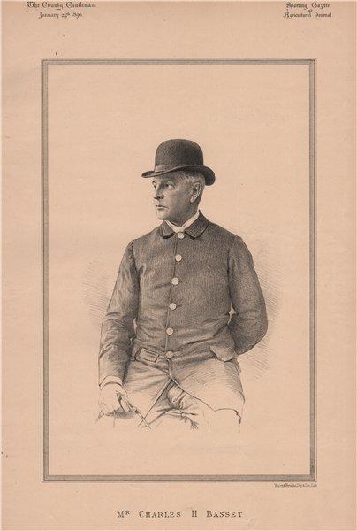 Associate Product Mr. Charles H. Basset 1890 old antique vintage print picture