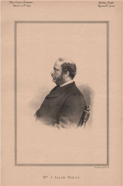 Associate Product Mr. J. Allan Rolls 1890 old antique vintage print picture