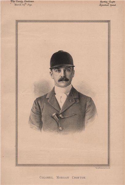 Associate Product Colonel Morgan Crofton 1890 old antique vintage print picture