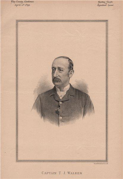 Associate Product Captain T.J. Walker 1890 old antique vintage print picture