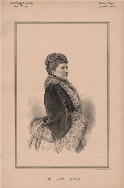 Associate Product The Lady Carew 1890 old antique vintage print picture