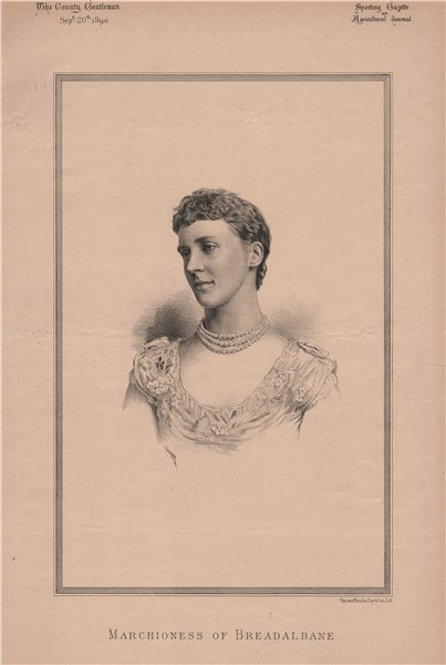 Associate Product Marchioness of Breadalbane 1890 old antique vintage print picture