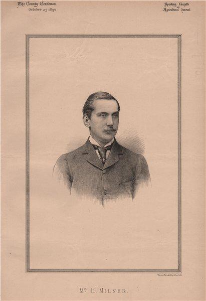 Associate Product Mr. H. Milner 1890 old antique vintage print picture