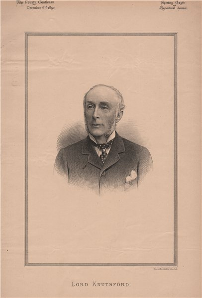 Associate Product Lord Knutsford 1890 old antique vintage print picture
